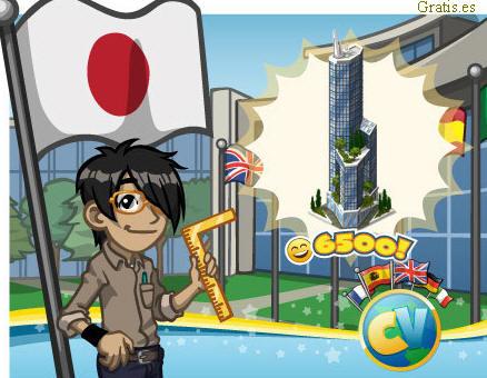 torre Taki Japon juego cityville